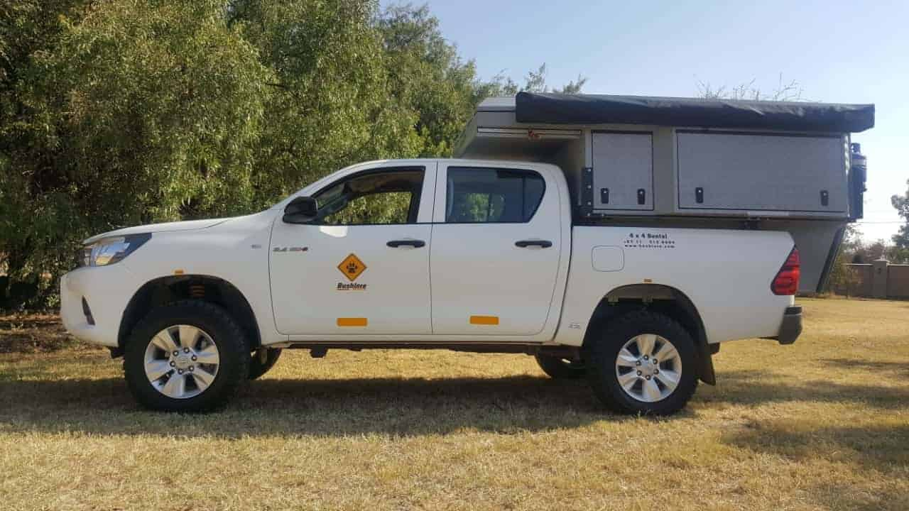 6b6e40669e222a 4WD Camper Rental - Toyota Hilux 4x4 Bushcamper